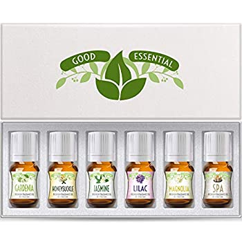 Fragrance Oils Set of 6 Scented Oils from Good Essential - Gardenia Oil Lilac Oil Honeysuckle Oil Jasmine Oil Magnolia Oil Spa Oil  Aromatherapy Perfume Soaps Candles Slime Lotions!