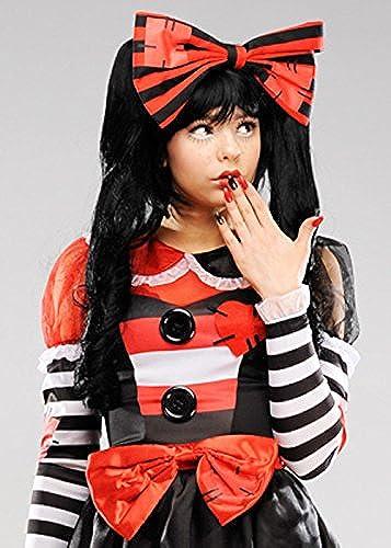 diseño simple y generoso Magic Magic Magic Box Peluca de muñeca rojoa Negra gótica de Halloween para mujer  buscando agente de ventas