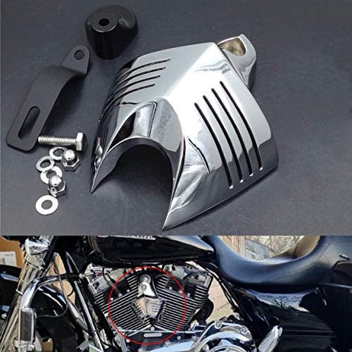 HTTMT MT246-001-CD Chrome Horn Cover Compatible with Harley Big Twins V-Rods Stock Cowbell Horns 1992-2013