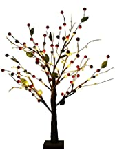 Kehyes Boomlicht gouden fruitboom decoratief licht 55 cm licht nachtlampje met 24 warmwitte leds voor slaapkamerdecoratie