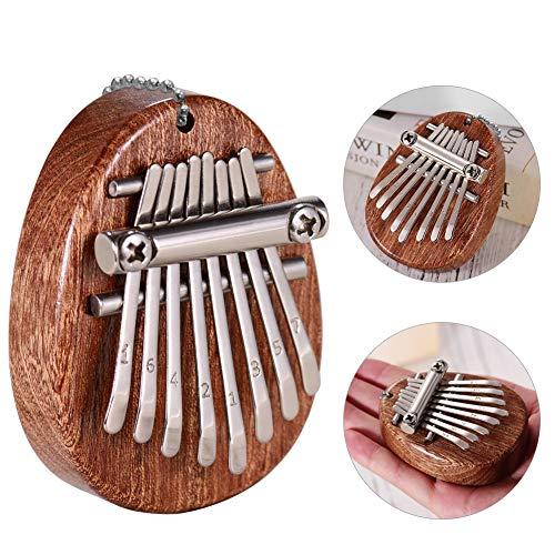 Kalimba 8 Tasten, Daumenklavier, Mini Daumenklavier, Finger Piano, Finger Klavier, Daumen Musikinstrument (Mini Solide)