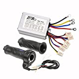 TDPRO 48V 1000W Brush Speed Motor Controller and Throttle Grip for Electric Scooter Bicycle e-Bike Tricycle