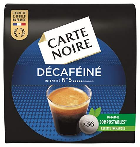 Carte Noire Décaféiné N°5 Café en Dosettes Compostables Compatibles Senseo, 10 Paquets de 36 dosettes souples (360 dosettes)