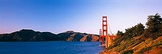 Walls 360 Peel & Stick Wall Mural: Golden Gate Bridge across the Sea (36 in x 12 in)