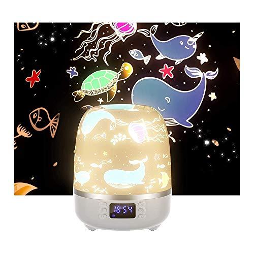 SHENMU Proyector De Luz Nocturna, Altavoz De Proyector De Luz Estrella Giratoria For El Dormitorio Camping Y Fiesta, 6 Películas For Diferentes Temas
