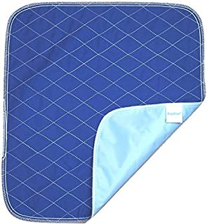 Ultra Waterproof Washable Seat Pad (20 x 22 Inch) for Incontinence - Seniors, Adult, Children, or Pet Underpad - Triple Layer Chair Cover Protector, 24 Ounce Absorbency (Navy Blue) by BrightCare