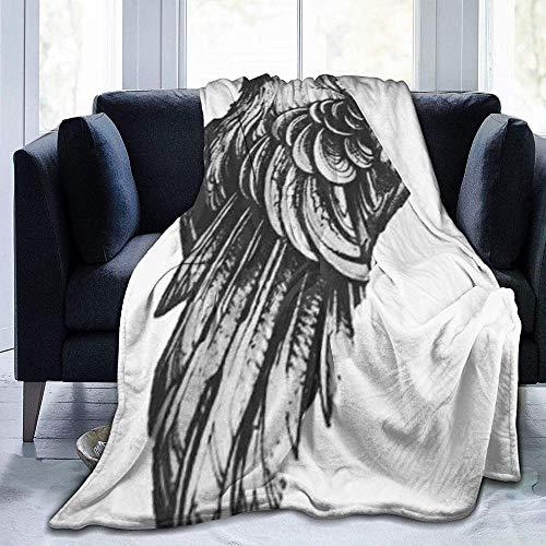 DWgatan Couverture,Jeté de lit Super Chaud en Polaire Easy Care,100% Polyester léger canapé Confort Enfants, Chambre à Coucher,Ravens Printed Blanket for Bedroom Living Room Couch Bed Sofa -50\