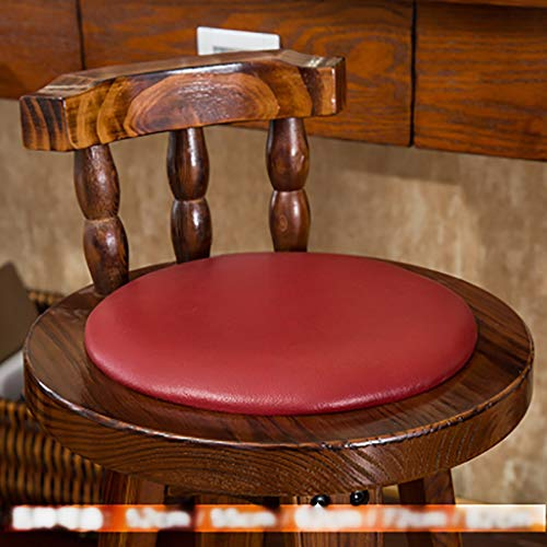 Barhocker Barhocker Massivholz Kuhfell Hochstuhl Sessel Haushalt Retro Front Desk Chair Hocker (Farbe : B5, größe : 72cm)