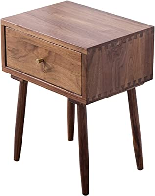 106bd5ad89d Black Walnut Bedside Table Drawers High Design Living Room Bedroom Storage