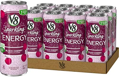 V8 Sparkling Energy Healthy Energy Drink Natural Energy from Tea 11 5 Oz Can Black Cherry 138 product image