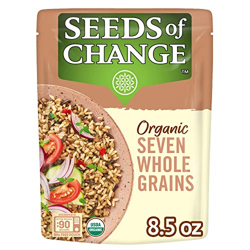 SEEDS OF CHANGE Organic Seven Whole Grains, Ready to Heat 8.5 Ounce, 8.5 Ounce (Pack of 6)