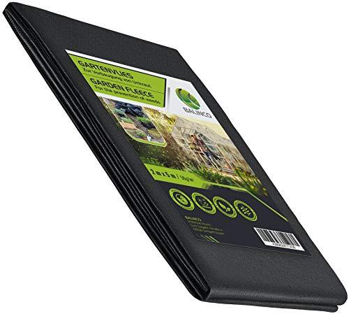 Balinco Unkrautvlies 50g/m² | Unkrautfolie | Gartenvlies gegen Unkraut - reißfest, wasserdurchlässig & hohe UV-Stabilisierung (10m² (5m x 2m))
