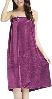 df1a0a96c9 Women Absorbent Microfiber Fleece Shower Bath Towel Skirt Sexy Soft Velvet  Wearable Strapless Bathrobe Spa Beach
