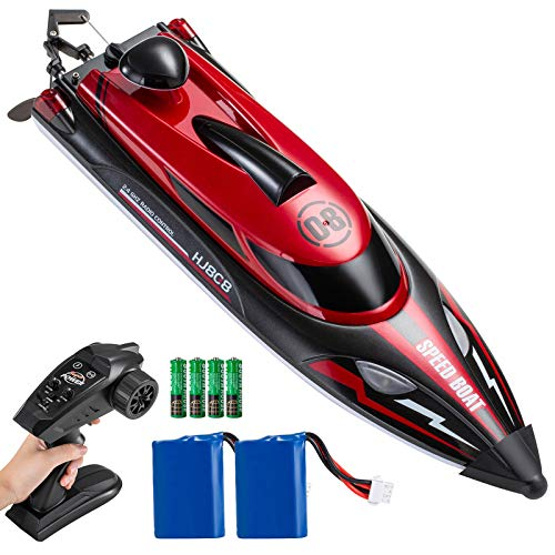 XZOLMO Remote Control Boats - RC Boat for Adults, Kids, 22 mph 2.4Ghz High Speed Racing Boats with Lights for Pools and Lakes, Toys for Boys and Girls, Red
