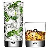 Drinking Glassware Set by Home Essentials & Beyond Set of 8...