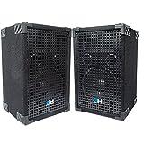 Grindhouse Speakers - GH8L-Pair - Pair of Passive 8 Inch 2-Way PA/DJ Loudspeaker Cabinet - 500 Watt...