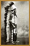 E Laminated Chief White Cloud (Native American Wisdom) Art Poster Print 24x36