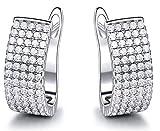 XIRENZHANG Pendientes de Temperamento de la Personalidad Pendientes de la Vendimia Pendientes de Lujo Diamante Pendientes de Las Mujeres White