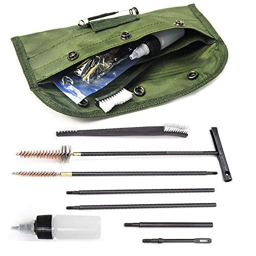 ガンクリーニングキット M16 ライフル用 クリーニングメンテナンスセット ブラシ 銃 ガンの掃除 11点セット(.22cal 5.56mm)