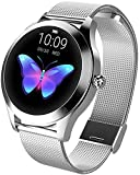 Lloow Women Smartwatches, Women Smart Watch Heart Rate Waterproof Fitness Smartwatch for Android iOS% Smartwatches 2021,A