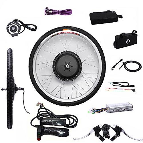 "OBLLER 36V/48V E-Bike Motor Hub Electric Bicycle Conversion Kits 26\"" Front/Rear Motor (36V 250W Front)"