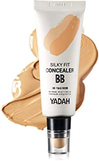 YADAH Silky Fit Concealer BB Power Brightening 1.18 Ounce 23 Natural Beige, 2 in 1 Base Makeup Natural Ingredients Foundation Cream