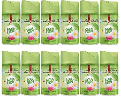 12x Fresh&More Nachfüller Apfel&Wasserlilie Für Automatische Duftspender - 250ml