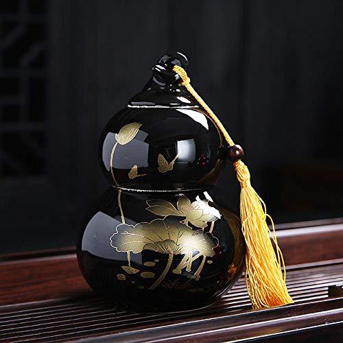 Services à thé Pot de thé Lotus Yun Gourd Pot en céramique scellé Pot de thé en Vrac Pot de thé Tea-Gourd-Noir jnkdkd1716