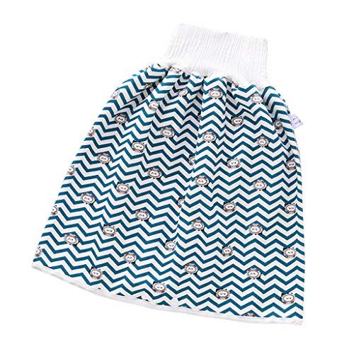 1 PC Baby Bequeme Windelrock Shorts, Kinderwindelrock Shorts wasserdichte und saugfähige Shorts Baumwolle Trainingshose mit Druckknöpfen, waschbar, wiederverwendbar, Atmungsaktiv für baby (M, G)