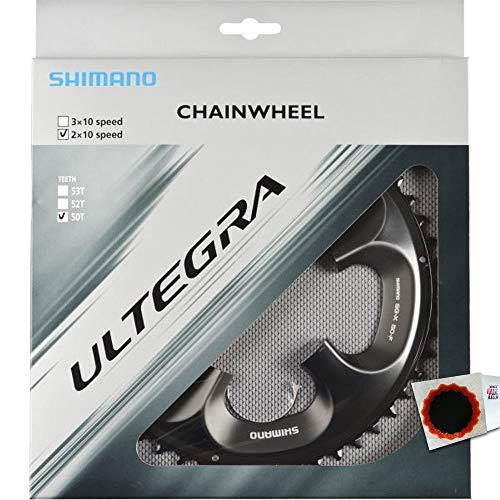 SHIMANO Kettenblätter ULTEGRA FC-6750 50 Zähne 110mm Aluminium grau Fahrrad