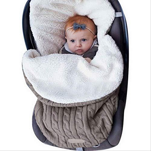 VBNM Saco de Dormir Saco De Dormir para Bebés De Invierno Algodón Grueso Ropa De Cama para Niños Cojín De Recién Nacido Manta Cochecito Infantil Saco De DormirCaqui