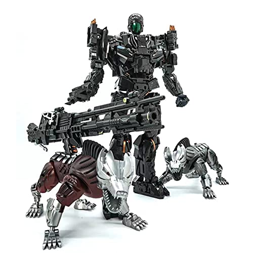WAWAYU Transformer Toys Decepticon Facción Lockdown Dos Perros Aleación Figura Figura Modelo Colección Robot KO Version
