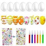 LISOPO Huevos decorativos de Pascua, 30 unidades, huevos de Pascua, huevos de plástico para Pascua