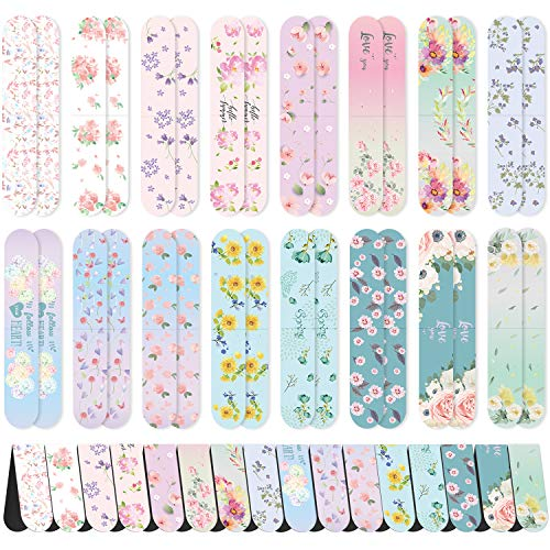 48 Pezzi Segnalibri Magnetici Floreali Carini Marcatori di Pagina Magnete Clip Pagina Magnetica per Bambini Adulti Lettura Cancelleria, 16 Design Colorato