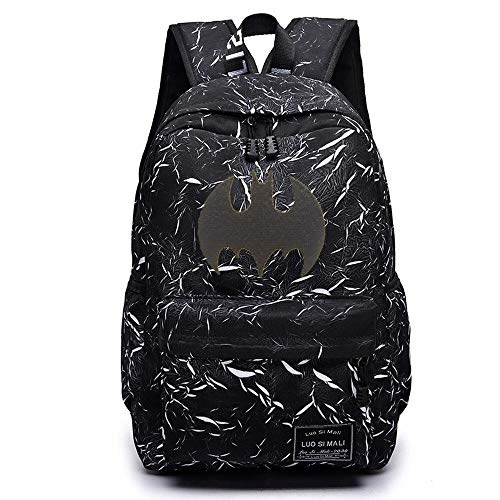 CLOUD Student School Bag Cartoon And Cartoon Male And Female Youth Travel Backpack Laptop Bag Batman-16 inches