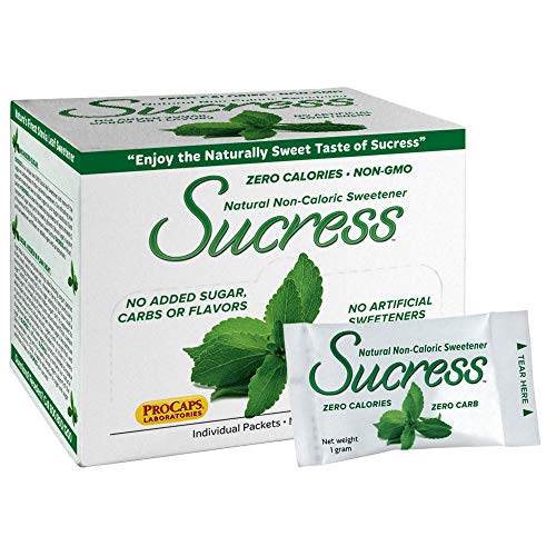Andrew Lessman Sucress Stevia Sweetener 500 Packets - Natural Non-Caloric Stevia Leaf Sweetener, Zero Calories, Non-GMO, No Added Sugar, Carbohydrates or Flavors, No Artificial Sweeteners.