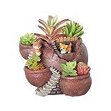 Xueliee - Maceta de plantas creativas decorada con mini...