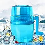 LANHA Tragbare Manuelle Eiscrusher, Doppelklinge aus Edelstahl Rasierte Eismaschine Schneekegelmaschine, Geeignet für die Zubereitung von Smoothies Säften Cocktails usw, Blau