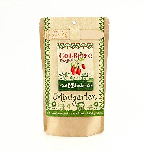 Die Stadtgärtner Minigarten Goji-Beere | Komplettes Anzuchtset für dieses Power Food | Gesiebte Erde, bestes Saatgut & eine ausführliche Anleitung