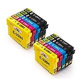 EBY Compatible 29 29XL Cartouches d'encre avec Expression Home XP255 XP235 XP332 XP335 XP432 XP435 XP245 XP247 XP442 XP445 XP342 XP345(4 Noir,2 Cyan,2 Magenta,2 Jaune)