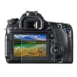 BYbrutek Protector de Pantalla de Vidrio Templado para Canon 650D/70D/700D/750D/760D/80D, 0,3 mm, Ultratransparente, Dureza 9H, sin Burbujas(650D/70D/700D/750D/760D/80D)