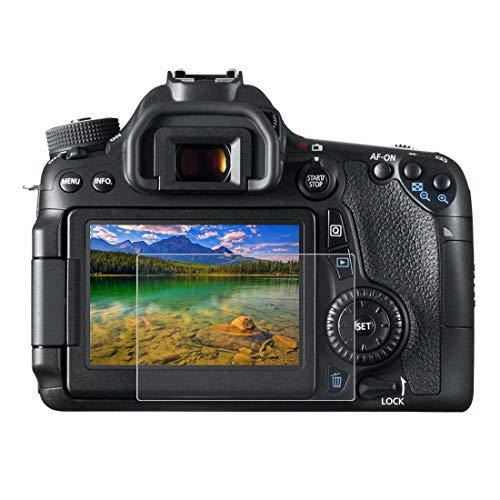 Gehärtetem Glas Displayschutzfolie für Canon EOS 650D/70D/700D/750D/760D/80D, 0,3 mm ultraklare LCD-Schutzfolien mit 9H Härte, Anti-scrach, Anti Fingerprint (650D/70D/700D/750D/760D/80D)