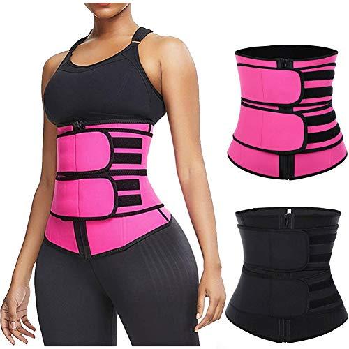 ANNA SweatFIT Adjustable Waist Slimming Trimmer, Bauchtrainer für Frauen und Männer (Black, S)