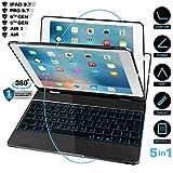 iPad Case with Keyboard for iPad 2018(6th Gen)- iPad 2017(5th Gen)- iPad Pro