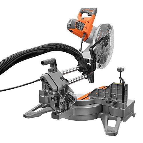 RIDGID 15 Amp Corded 12 in. Dual Bevel Sliding with 70 Deg. Miter Capacity and LED Cut Line Indicator