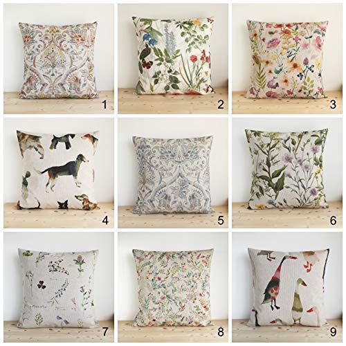 Federa per cuscino per mamma e papà, 25,4 x 25,4 cm, effetto lino, stile shabby chic, country, cottage chic, federa per cuscino – Country Linen Collection