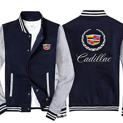 Outwear Männer Pullover Jacke-Cadillac 3D Printed Unisex Sweatshirt Zipper Long Sleeve Top Jugend Geschenk Blue+Grey-L