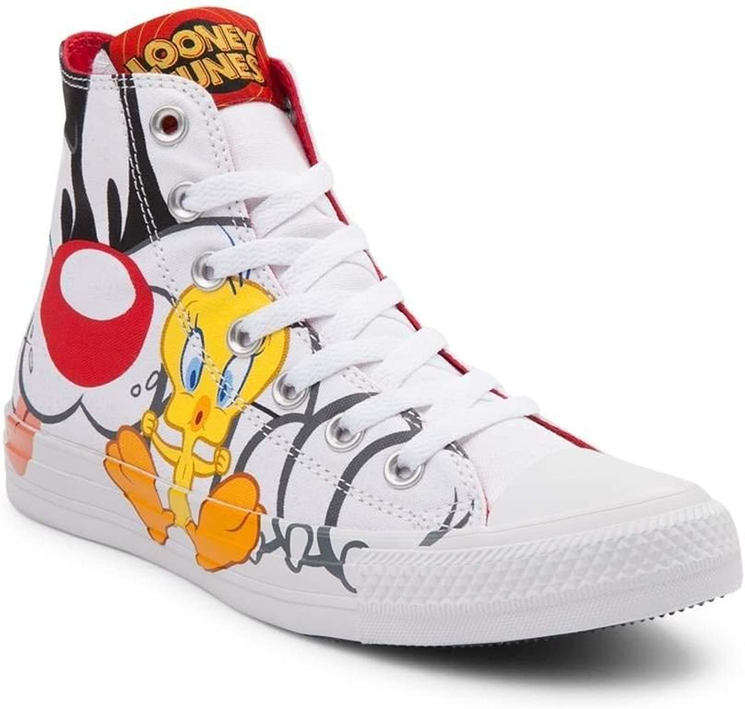 Converse Converse Chuck Taylor All Star High Looney Tunes Rivalry Collection Weiß schwarz Tweety Gelb 158886C Limited Edition  bester Service