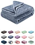 Fuzzy Throw Blanket, Plush Fleece Blankets for Adults, Toddler, Boys and Girls, Warm Soft Blankets and Throws for Bed, Couch, Sofa, Travel and Outdoor, Camping (40Wx60L, M-Smoked Blue)