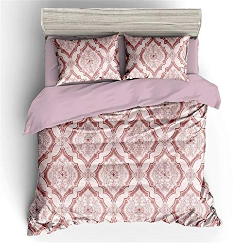 SK-LBB 3D-digitale print bloemenserie driedelig bed polyester beddengoed set van 3 (A13,Single 135x200cm)
